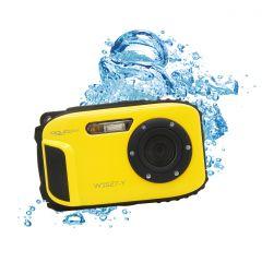 Aparat foto digital AquaPix W1627 Ocean, Waterproof, 16 MPx, Dustproof, Shockproof, Afisare Data, Galben + Bonus Husa