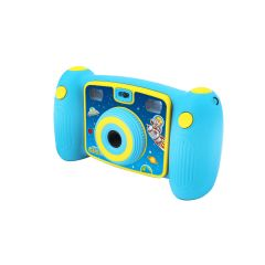 Aparat Foto Digital pentru Baietei Easypix Kiddypix Galaxy, Albastru + Bonus Minitrepied flexibil