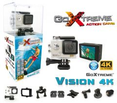 Camera video sport GoXtreme Vision WiFi 4K@24fps si 1080p@60fps, 170 grade, Senzor Pro SONY IMX078 12 Mpx (INCLUDE 8 Accesorii)