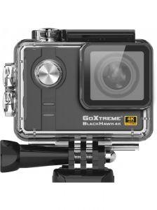 Camera Video Sport GoXtreme Black Hawk 4K @30fps, Senzor Sony IMX117 12.4 MPx, Procesor Ambarella 12, Instantanee 16 MPx (Include 6 Accesorii), KIT cu BONUS: MicroSD 32GB + Sistem Montare Piept