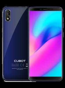 Telefon mobil CUBOT J3 Dual SIM, 5 inch, FaceID, Android GO, Albastru + BONUS Husa Silicon si Folie