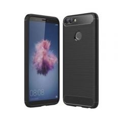 Husa protectie Huawei P SMART , design carbon, BLACK