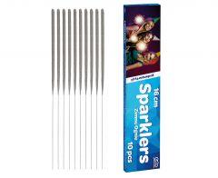 Artificii de interior cu stelute, 16 cm, 10 buc