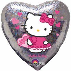 Balon folie inima Hello Kitty