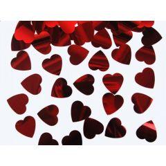 Confeti metalizate inimioare, Rosu