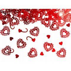 Confeti inimioare, Rosu