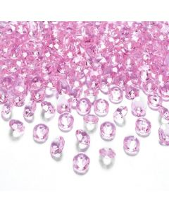 Cristale diamant, Roz, 100 buc