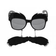 Ochelari cu sprancene si mustata