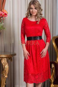 Rochie Rafaela - dantela rosie