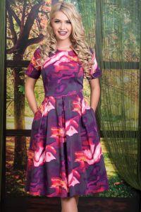 Rochie bumbac Purple Wind