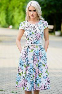 Rochie Alis din bumbac cu imprimeu floral