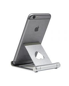 Suport reglabil universal de birou, pentru telefon/ tableta, din aluminiu