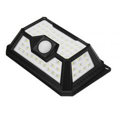 Lampa solara de perete cu senzor de lumina si miscare cu 66 leduri