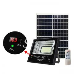 Proiector solar puternic 200W, 540 LED SMD, display LED nivel incarcare, cu panou solar si telecomanda cu functii multiple