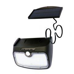 Lampa solara de perete cu 38 leduri panou detasabil senzor de miscare si lumina