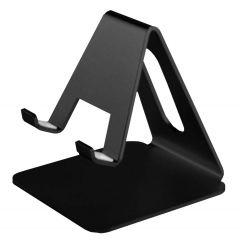 Suport universal de birou, pentru telefon sau tableta, din aluminiu, negru