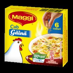 Baza pentru mancaruri cub cu gust de gaina Maggi 60g