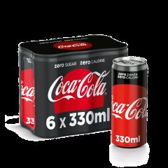 Coca-Cola Zero Zahar 6X0.33L doza