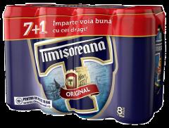 Bere blonda Timisoreana doza 8x0.5L (7+1)