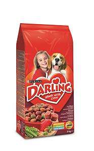Hrana completa cu vita pentru caini adulti Purina Darling 3kg