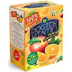 Suc natural 100% mere si portocale  Dr Vitamin 3l