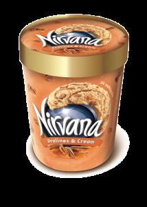 Inghetata cu aroma de caramel si nuci Nirvana 360g