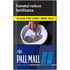 Tigari Pall Mall albastru 3-tek charcoal filter