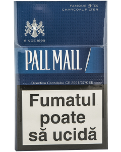 Tigari Pall Mall albastru 3-tek charcoal filter