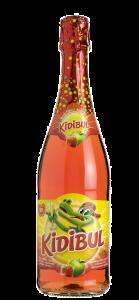 Bautura carbogazoasa din suc de mere si capsuni Kidibul 0.75l