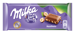 Ciocolata cu lapte si alune Milka 100g