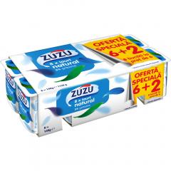 Iaurt Natural 3% grasime Zuzu 6+2x140g