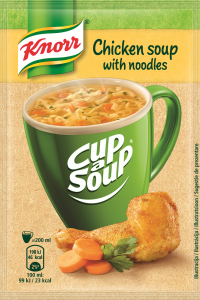 Supa instant Pui cu taitei Knorr Cup a Soup 12g