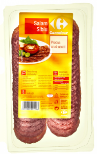 Salam Sibiu crud-uscat feliat Carrefour 100g