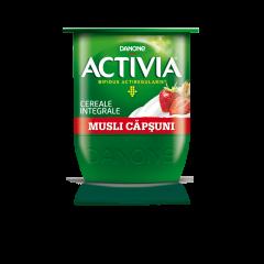 Iaurt cu capsuni si cereale integrale Activia 125g