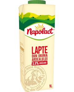 Lapte de vaca integral 3.5% grasime Napolact 1l