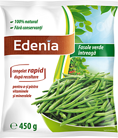Fasole verde intreaga Edenia 450g