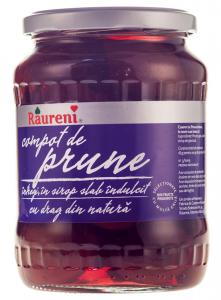 Compot de prune intregi Raureni 720g