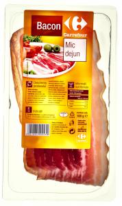 Bacon Mic dejun feliat Carrefour 100g