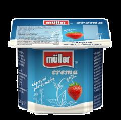 Iaurt cremos cu capsuni Muller 125g