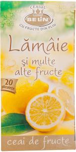Ceai de lamaie si multe alte fructe Belin 40g