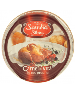 Conserva carne de vita Scandia Sibiu 300g