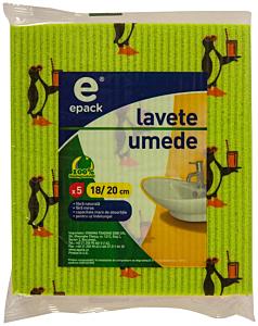 Lavete umede E Pack 5buc