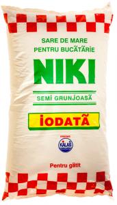 Sare de mare iodata semi grunjoasa Kalas Niki 1kg