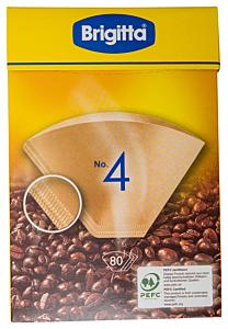 Filtre de cafea Nr.4 Brigitta 80 bucati