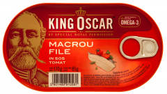 Macrou file in sos tomat King Oscar 170g