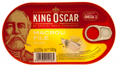 Macrou file in ulei King Oscar 170g