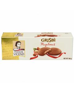 Biscuiti umpluti cu crema cu alune Grisbi Vicenzi 150g.