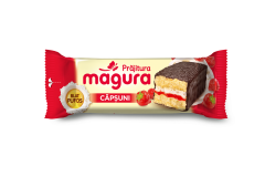 Prajitura cu crema de iaurt si gem de capsune Magura 35g
