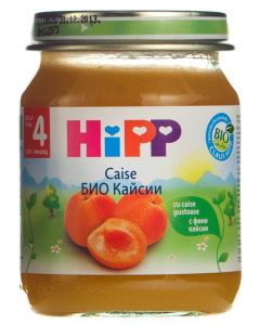 Piure din caise pentru bebelusi 4 luni+ Hipp 125g
