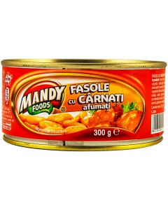 Fasole cu carnati Mandy 300g